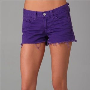 J brand purple cutoff short- Reposh never worn